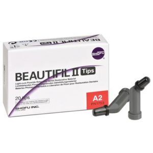 Shofu Beautifil II Tips fluoride restorative imagemposite