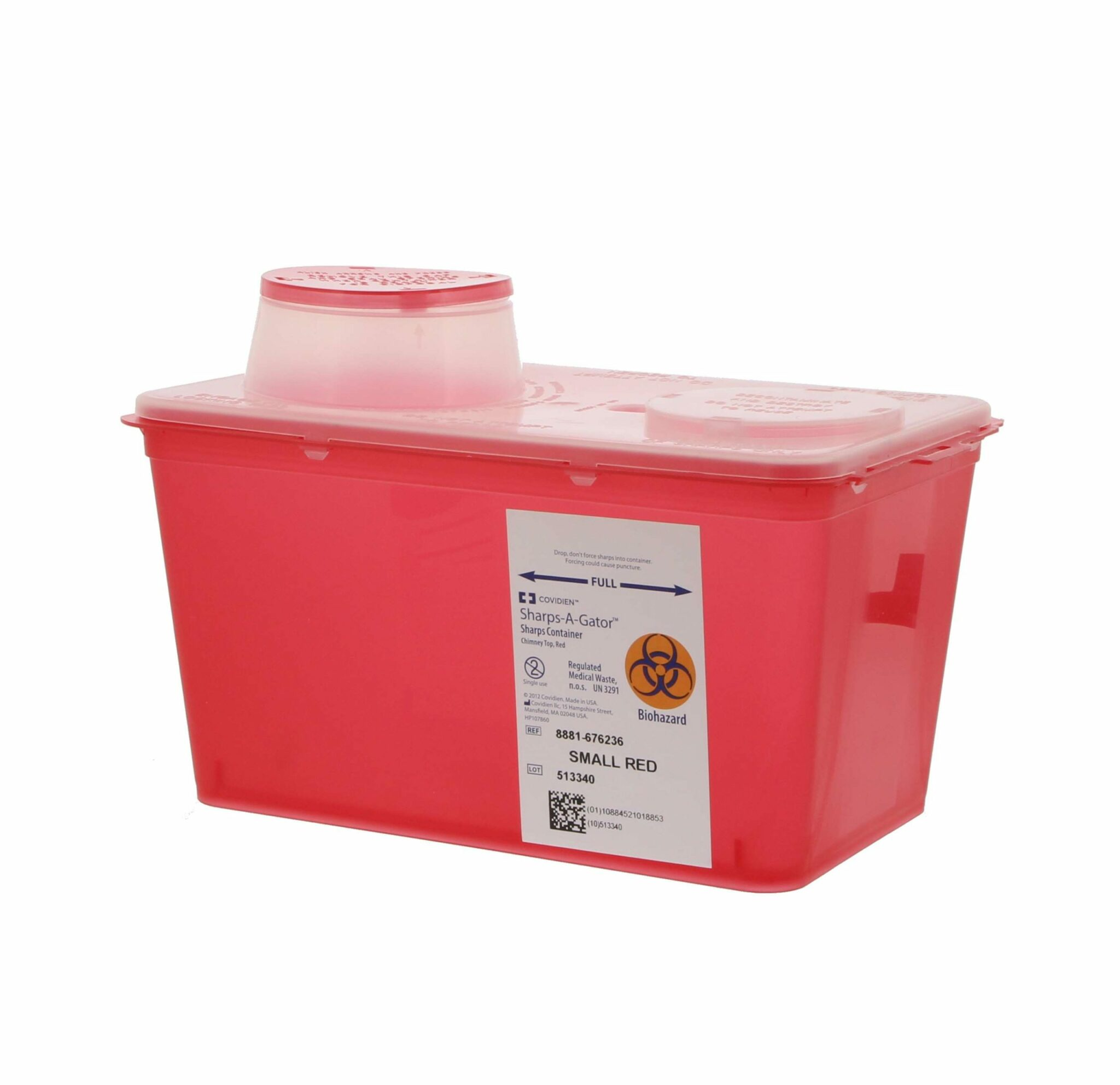 MONOJECT SHARPS CONTAINER RED SMALL 4 Qt #8881676236