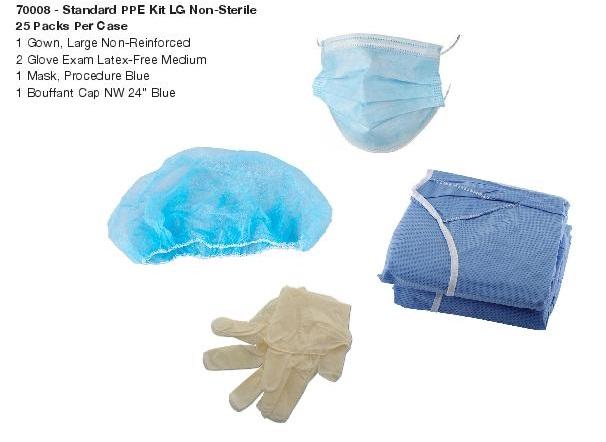Standard PPE Kit, LG, Non-Sterile