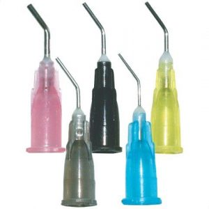Pre-Bent Needle Tips, 20 Ga., Black, 100/Bag