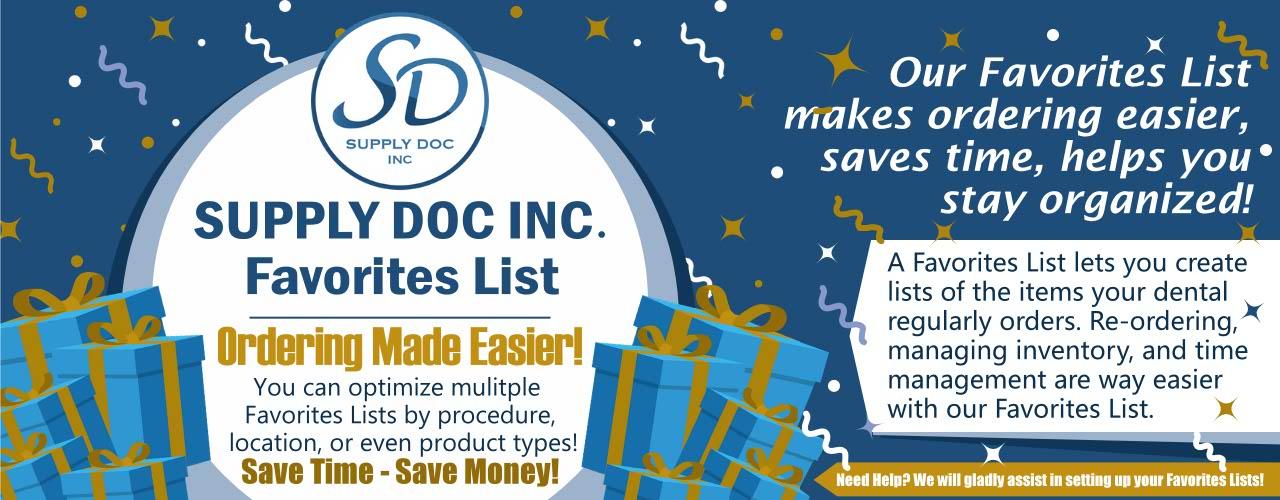 Supply Doc Favorites List Saves Money banner
