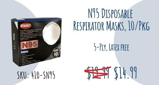 N95 Disposable Respirator Masks 14.99